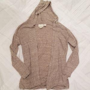 Linen Hooded Sweater